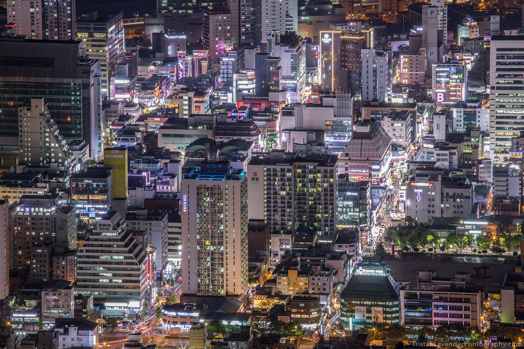 Busan city view at night