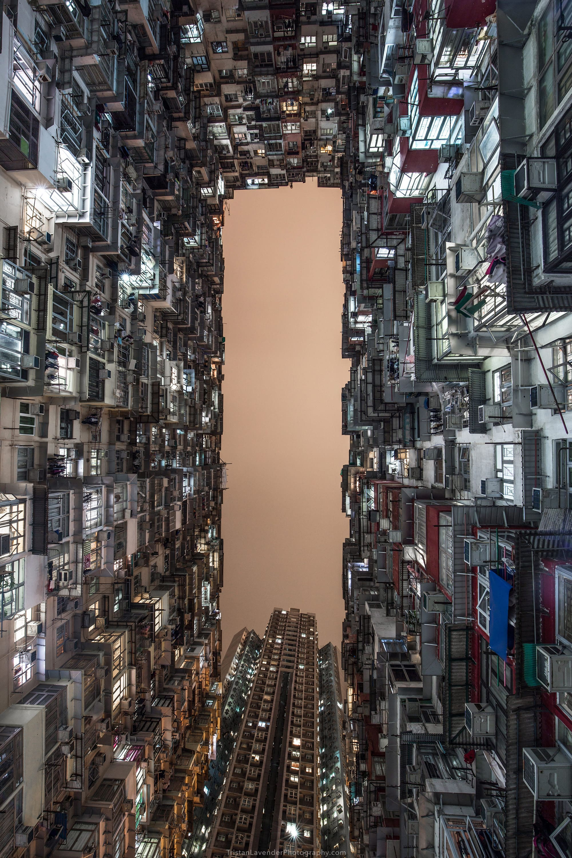 Hong Kong Quarry Bay at night