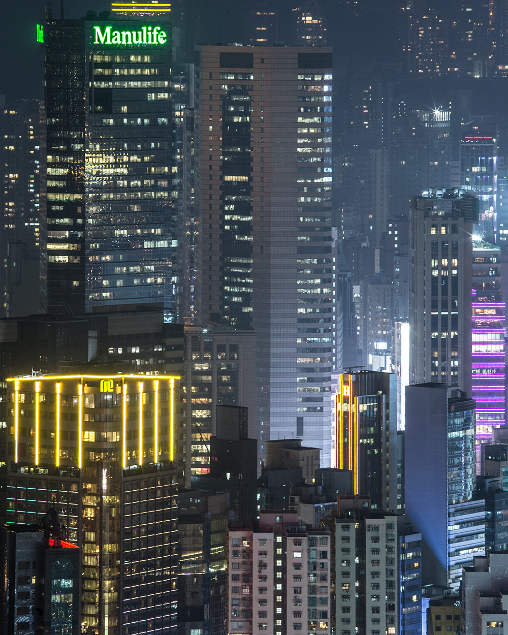 hong kong nightscape